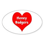 Big Heart Honey Badgers Sticker (Oval 50 pk)