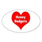 Big Heart Honey Badgers Sticker (Oval 10 pk)