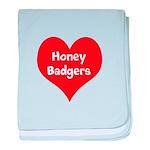 Big Heart Honey Badgers baby blanket