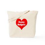 Big Heart Honey Badgers Tote Bag