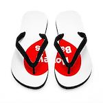 Big Heart Honey Badgers Flip Flops