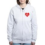 Big Heart Honey Badgers Women's Zip Hoodie