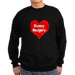 Big Heart Honey Badgers Sweatshirt (dark)
