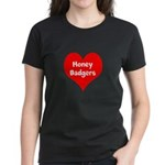 Big Heart Honey Badgers Women's Dark T-Shirt