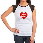 Big Heart Honey Badgers Women's Cap Sleeve T-Shirt