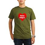 Big Heart Honey Badgers Organic Men's T-Shirt (dar