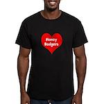 Big Heart Honey Badgers Men's Fitted T-Shirt (dark