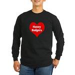 Big Heart Honey Badgers Long Sleeve Dark T-Shirt