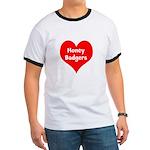 Big Heart Honey Badgers Ringer T