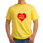 Big Heart Honey Badgers Yellow T-Shirt
