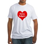 Big Heart Honey Badgers Fitted T-Shirt