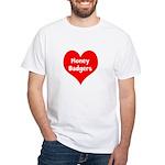 Big Heart Honey Badgers White T-Shirt