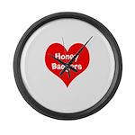 Big Heart Honey Badgers Large Wall Clock