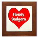 Big Heart Honey Badgers Framed Tile