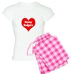 Big Heart Honey Badgers Women's Light Pajamas