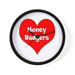 Big Heart Honey Badgers Wall Clock