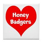 Big Heart Honey Badgers Tile Coaster