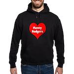 Big Heart Honey Badgers Hoodie (dark)