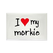 I LOVE MY Morkie Rectangle Magnet