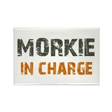Morkie IN CHARGE Rectangle Magnet