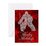 Language of Hockey (goalie) Greeting Cards (Pk of