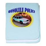 Honolulu Police baby blanket