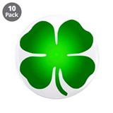 "Four Leaf Clover 3.5"" Button (10 pack)"