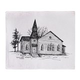Old Country Church Throw Blanket