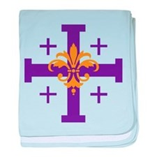 Jerusalem Cross baby blanket