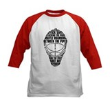 Hockey Goalie Mask Text Tee