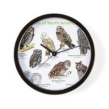 Owls of North America Wall Clock