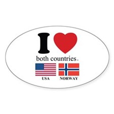 USA-NORWAY Decal