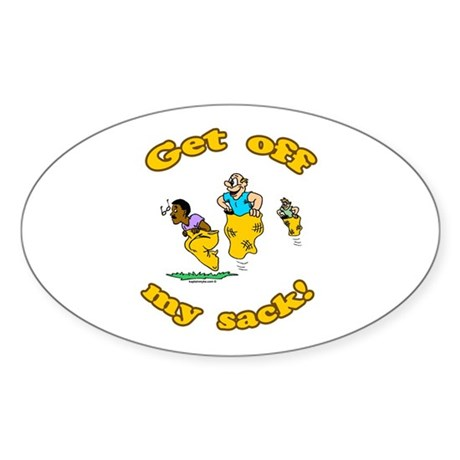 Sack Race Oval Sticker