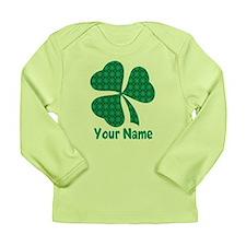 Personalized Irish Shamrock Long Sleeve Infant T-S