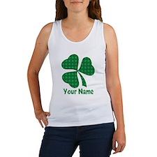 Personalized Irish Shamrock Women's Tank Top