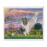 CloudAngel-Collie (B) Throw Blanket