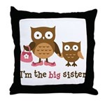 Big Sister - Mod Owl Throw Pillow