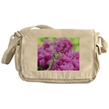 Pink and Praying Mantis Messenger Bag