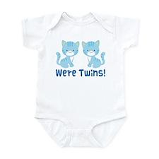 Twin Blue Kittens Infant Bodysuit