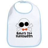 Baby's 1st Halloween Skull Bib
