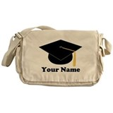 Personalized Black Graduation Cap Messenger Bag