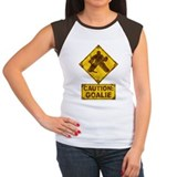 Hockey Goalie Caution Sign Tee
