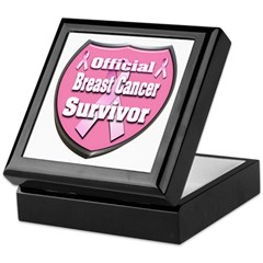 Breast Cancer Official Surviv Keepsake Box
