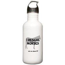 I RESCUE Horses Water Bottle