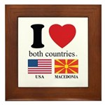 USA-MACEDONIA Framed Tile