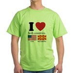 USA-MACEDONIA Green T-Shirt