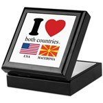 USA-MACEDONIA Keepsake Box
