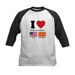 USA-MACEDONIA Kids Baseball Jersey