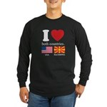 USA-MACEDONIA Long Sleeve Dark T-Shirt