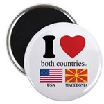 USA-MACEDONIA Magnet